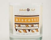 Biscotti Ginger, Almond and Vanilla 8oz 60 hour burn time candle Non Toxic Eco Friendly Natural