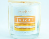 Juice Yummy Citrus Blend with Lemon Lime Orange and Grapefruit 8 ounce 60 hour burn time candle Non Toxic Eco Friendly Natural