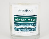 Winter Moss with Cypress and Oakmoss 8 ounce 60 hour burn time candle Non Toxic Eco Friendly Natural