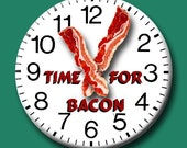 Time for Bacon 1.75 inch round FRIDGE MAGNET