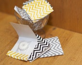 Chevron Print Party Favors Mint Matchbooks - You choose colors Set of 20 Mint Favors - Individually wrapped