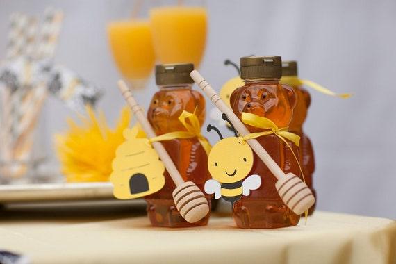 Bee temáticos Baby Shower Party Favor Tags - Jogo de 12 Bumble abelhas e colmeias - Tag do favor do aniversário -