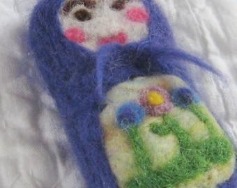 Pocket Full of Posies Matryoshka Doll Ornament - Russian Nesting Doll