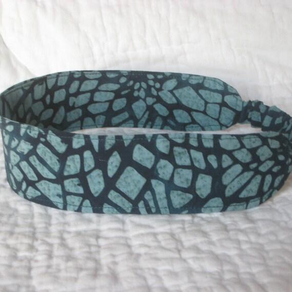 Jungle Green Batik Fabric Headband