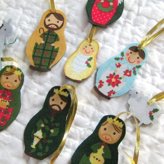 Jesus Ornaments Jesus Ornament Designs: Items Similar To Nativity Ornament Set
