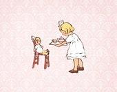 Children's Wall Art Print - Ella's Tea Party - Girl Kids Nursery Room Decor