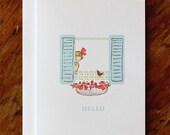 Single Card - Hello - Greeting Card (Blank)