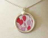 Necklace - Balloons - With Pearl Charm
