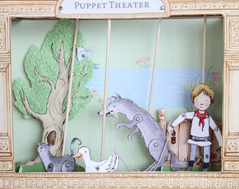 Puppet Theater - PDF Printable - Peter and the Wolf