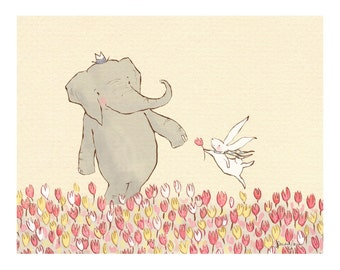Children's Wall Art Print - Wellesley & Winslow Spring Meadow