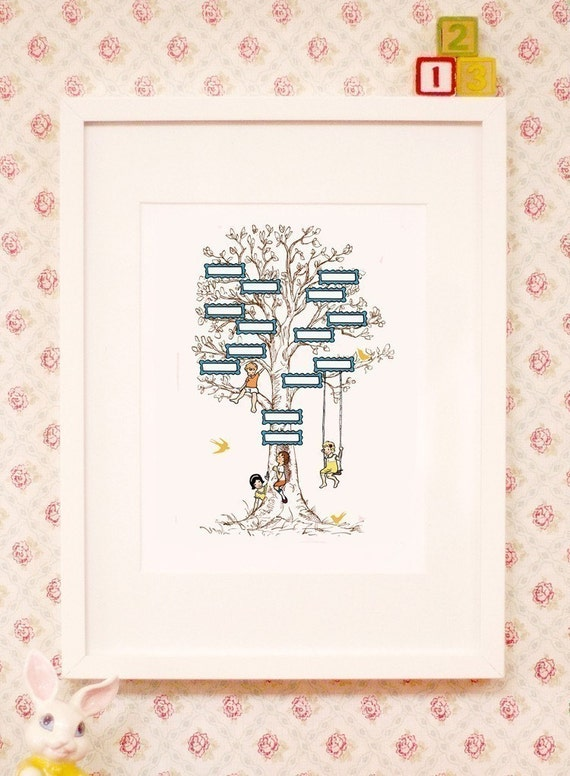 Personalized Family Tree. 11 x 14