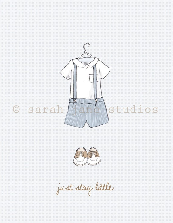 Just stay little boy print