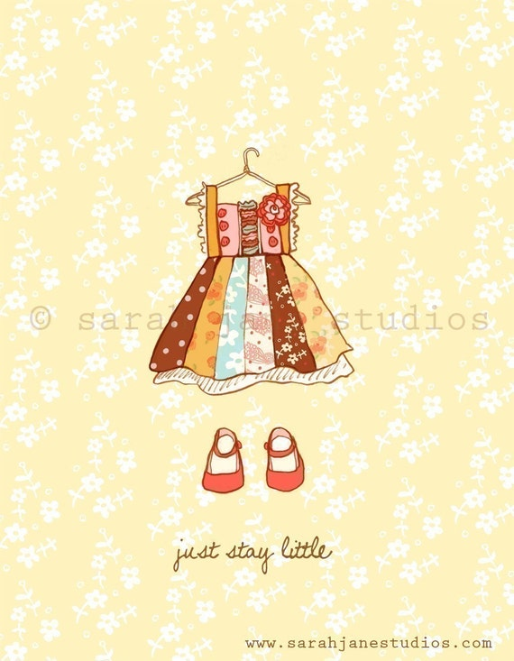 Just stay little girl print