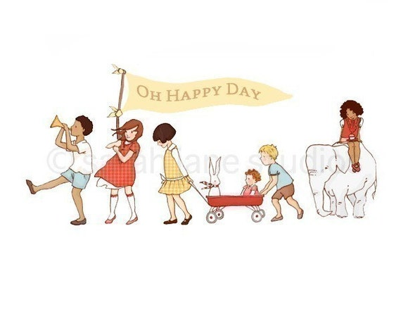 OH Happy Day-Fine art print