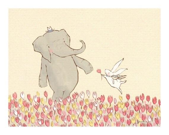 Children's Wall Art Print - Wellesley & Winslow Spring Meadow