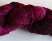 BunkyToes Hand Dyed Sock Yarn--Elderberry Wine