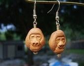 Golden Gorilla Earrings