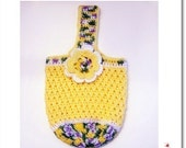 Crochet PATTERN for Tri-Color Market Tote - Multi-purpose Bag in PDF format -  over 60 pics (ref 101)