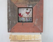 Collage Bird Painting Framed Tile