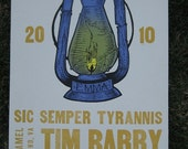 Tim Barry Limited Screen Print Letter Press Show Poster