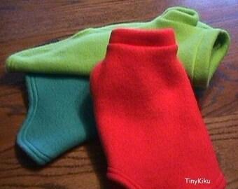 Any Color Dog Coat/Sweater FLEECE YORKIE  (xxxs-xxs-xs-s-m-l)