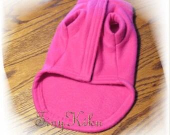 VELCRO CLOSURE FUCHSIA Dog Coa/ Sweater or Pick Color  (xxxs-xxs-xs-s-m-l)