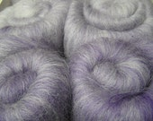 109g (3.8oz) merino and falkland minibatts, gradient purple