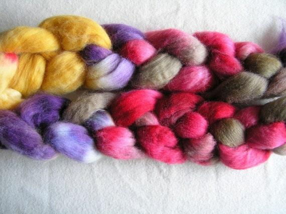 147g Falkland top, Easter Bunny B, gold, purple, chocolate, raspberry