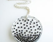 Black Rising - Resin Necklace