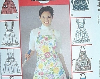 Apron Sewing pattern, Woman Apron Pattern McCalls Fashion Accessories 2947 Misses size NEW Uncut, misses apron sewing pattern