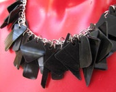 Back on the Chain Gang, Black Vinyl Record Charm Necklace