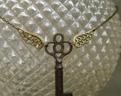 Winged Key Necklace - Harry Potter Inspired