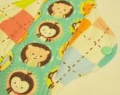 Argyle Cuties - LARGE Cloth PUL Pad Organic Hemp Fleece, 10in