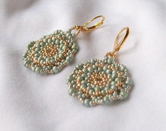 Mossy green earrings