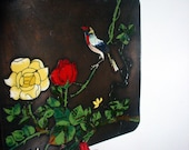 Vintage Chinese Cloisonne wall hanging RESERVED Chapterone