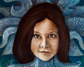 Custom Portrait- From your Photograph- Original Paint and Ink- ATC or 2.5 x 3.5 size
