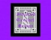 8 in Lighthouse w Border Filet  Crochet Pattern