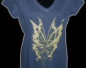 Fairy Girls v-neck shirt navy