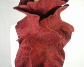 Flamenco Felt Scarf brick red