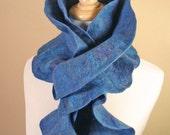 Flamenco Felted Scarf--Moody Blues