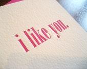 In Like - Letterpress Valentine Card