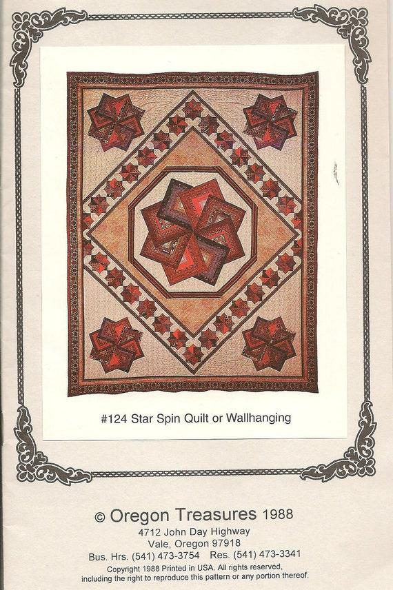 DeStash Oregon Treasures Star Spin Quilt or Wallhanging