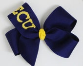 NEW - Free USA Shipping Over 20 - ECU College Football NFLYour Favorite Sports Team Custom Monogrammed Hairbow Hair Bow