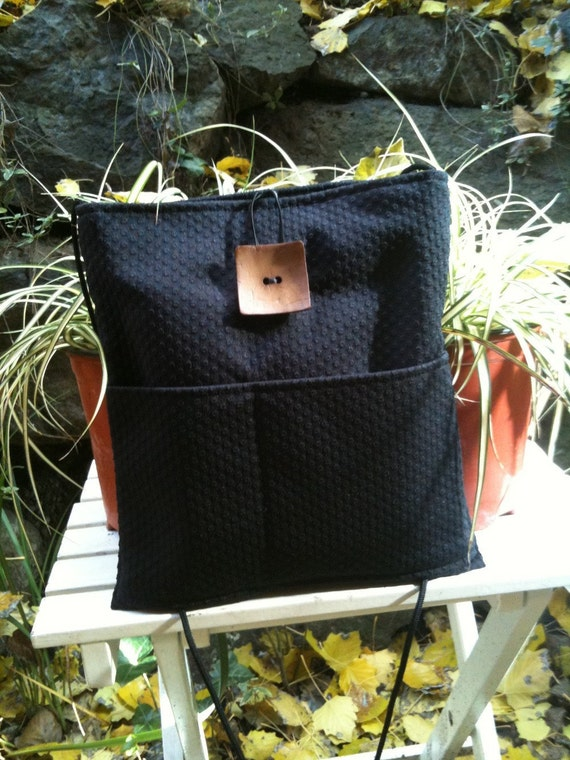 Large Black Shoulder Bag