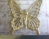 Silicone mold butterfly fairy sprite  from vintage brass stamping for crafts Candles soaps clay resin
