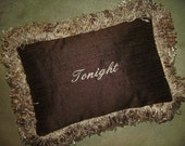 Tonight Pillow - Brown Silk with Beige