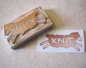Leaping Lamb Hand Carved Rubber Stamp