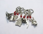 Silver Harry Potter Non-Snag Stitch Markers