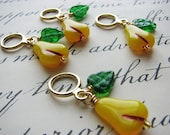 Vintage Pears Non-Snag Stitch Markers