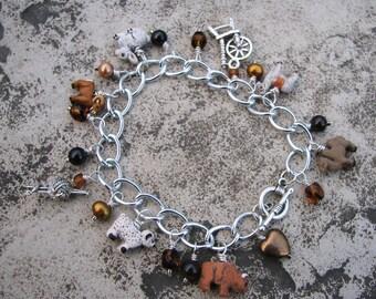 Fiber Animal Charm Bracelet